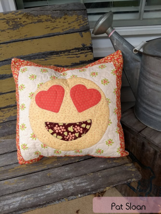 Pat Sloan Sew-emoji pillow 2