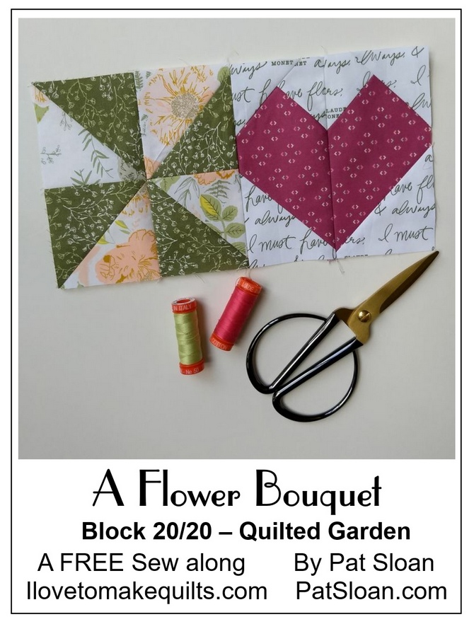 Pat Sloan A flower Bouquet block 20 button