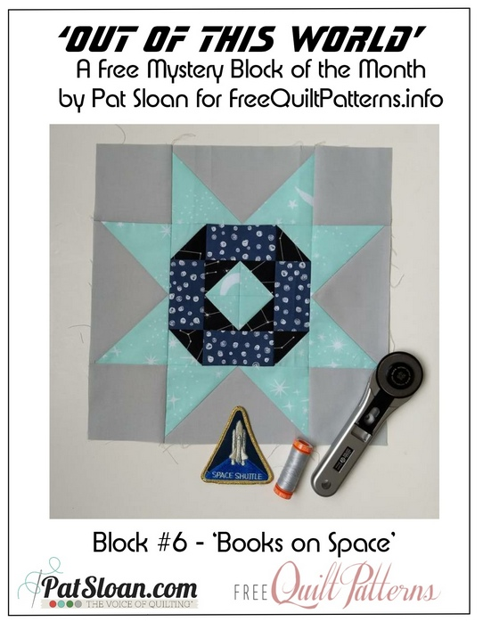 Pat Sloan Out of this World block 6 button