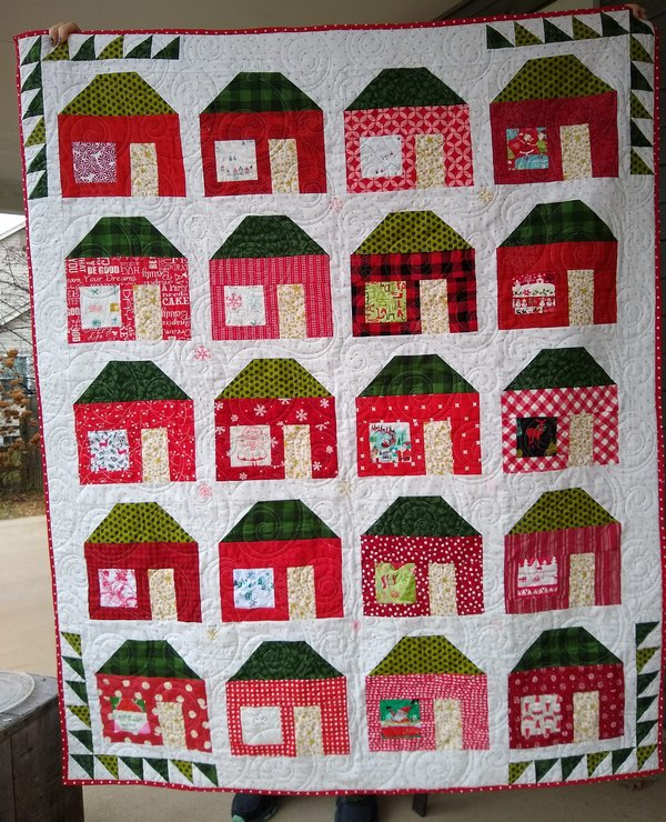 Pat Sloan Merry and bright block 1 full quiltsm