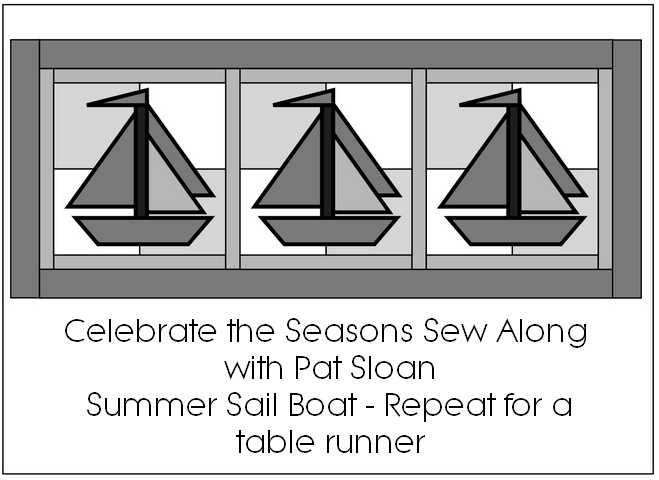 Pat sloan sail boat table runner wallhangings