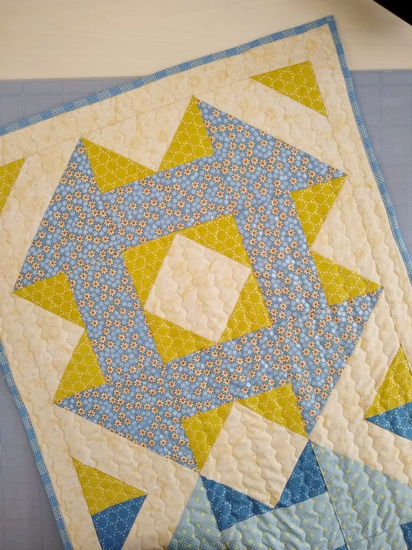 Pat sloan table runner wave stitch 2