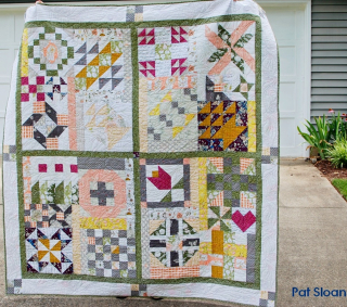 Pat Sloan Flower Bouquet quilted 2