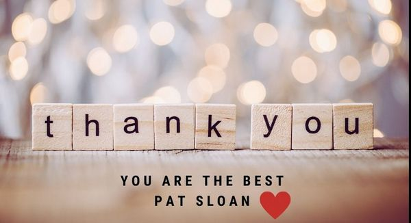 Pat sloan thank you