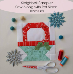 Pat sloan sleigh bell sampler block 8 button