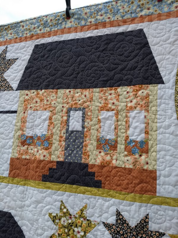 Pat sloan drive down house quilted