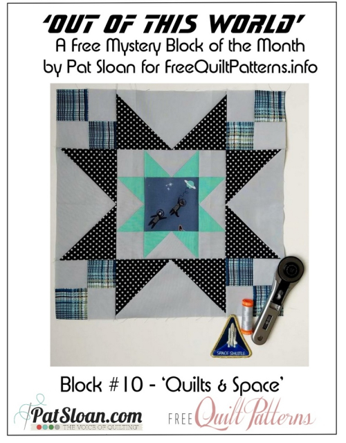 Pat Sloan Out of this World layout block 10 button