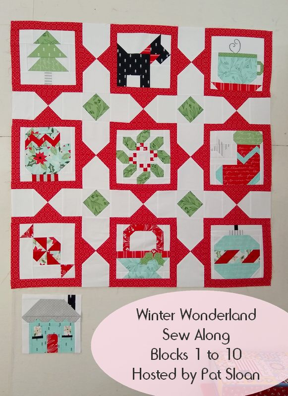 Pat sloan sleigh bell sampler blocks 1 to 10