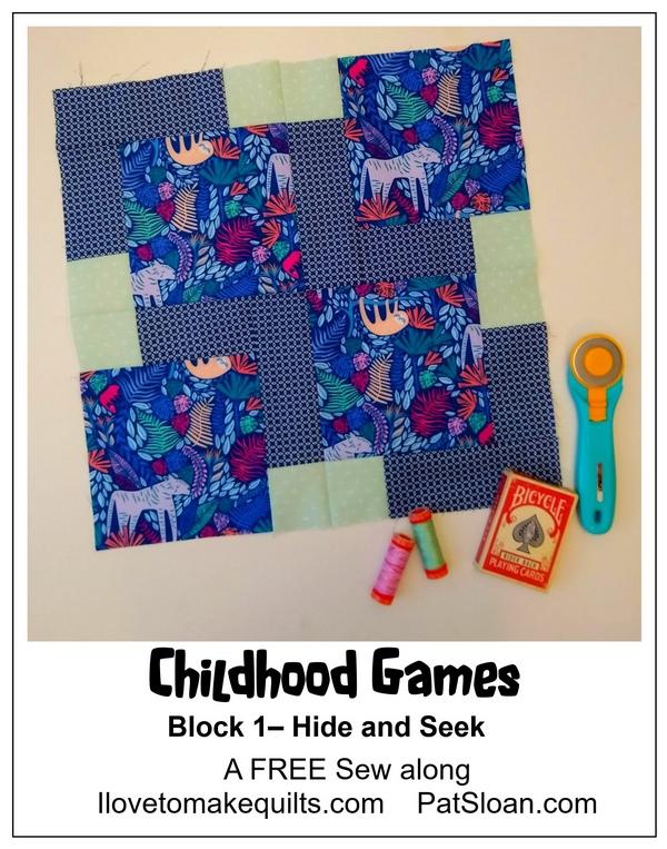 Pat Sloan Block 1 Childhood Games button