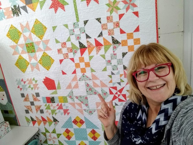 Pat sloan and original quilt