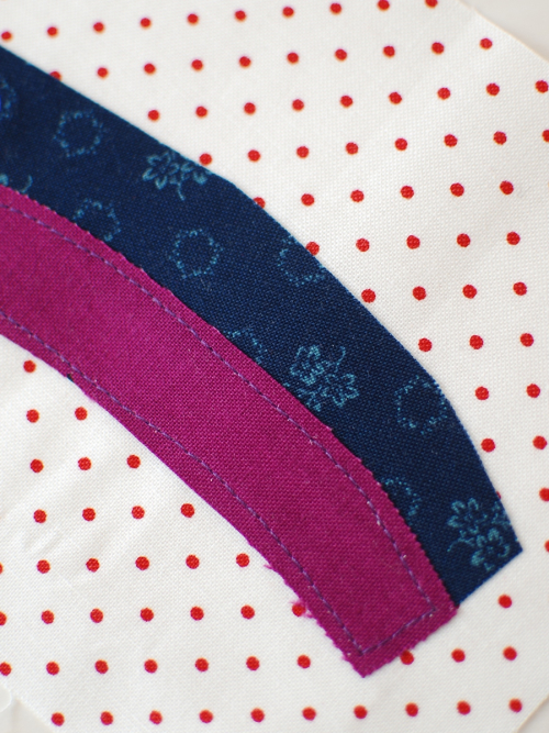 Pat Sloan Rainbow straight stitch
