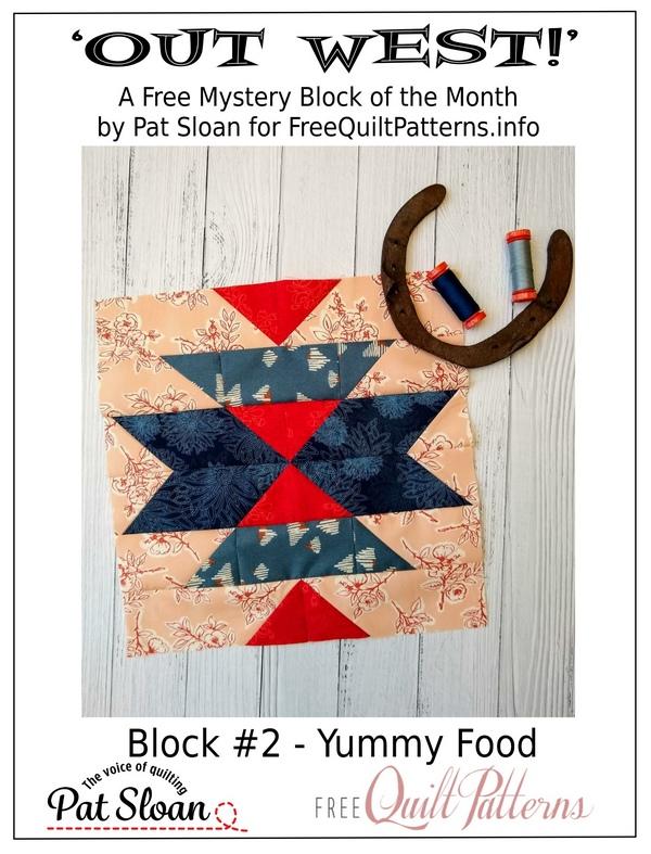 Pat Sloan Out West  block 2 button