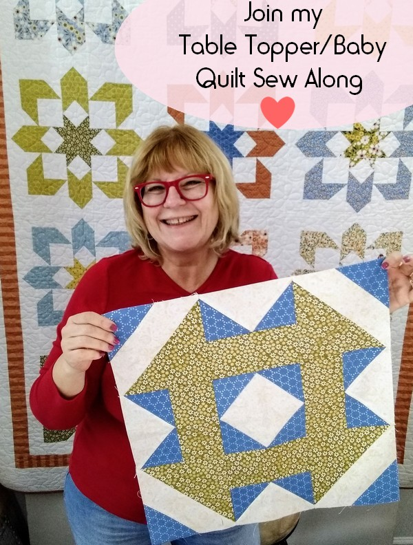 Pat sloan sew a table topper banner