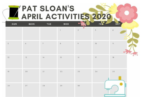 Pat sloan april activities pic
