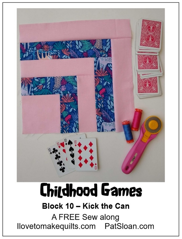 Pat Sloan Block 10 Childhood Games banner
