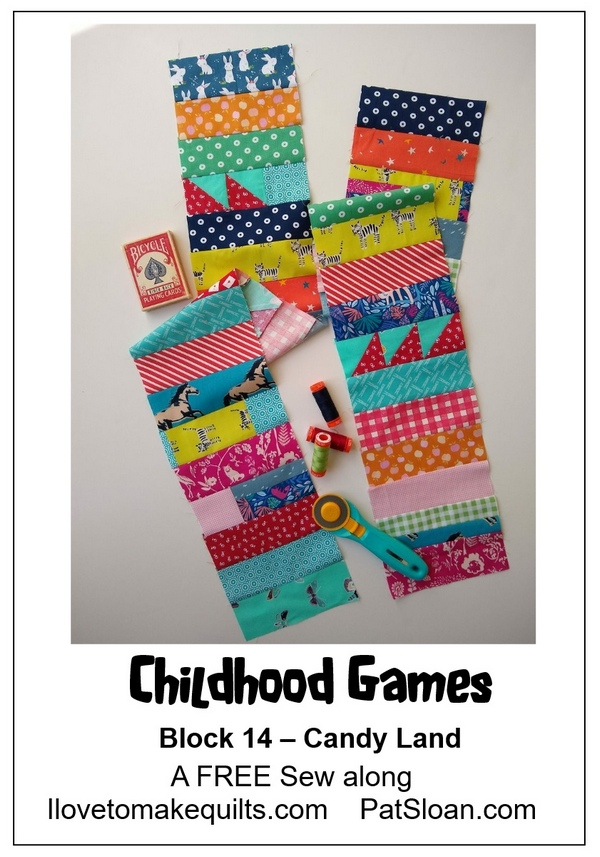 Pat Sloan Block 14 Childhood Games blocks banner