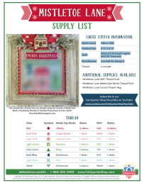 Mistletoelane supply list