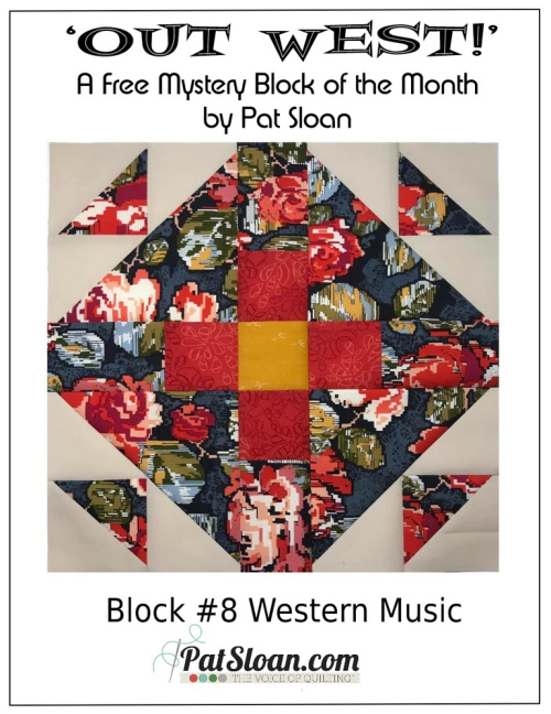 Pat Sloan Out West  block 8 pattern