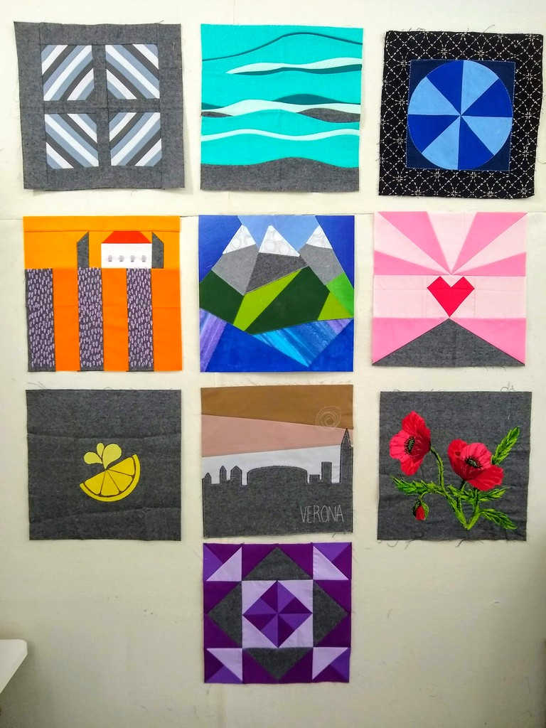 Pat Sloan Aurifil 2020 Jan to Oct blocks