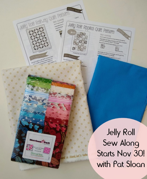Pat sloan jelly roll sew along button