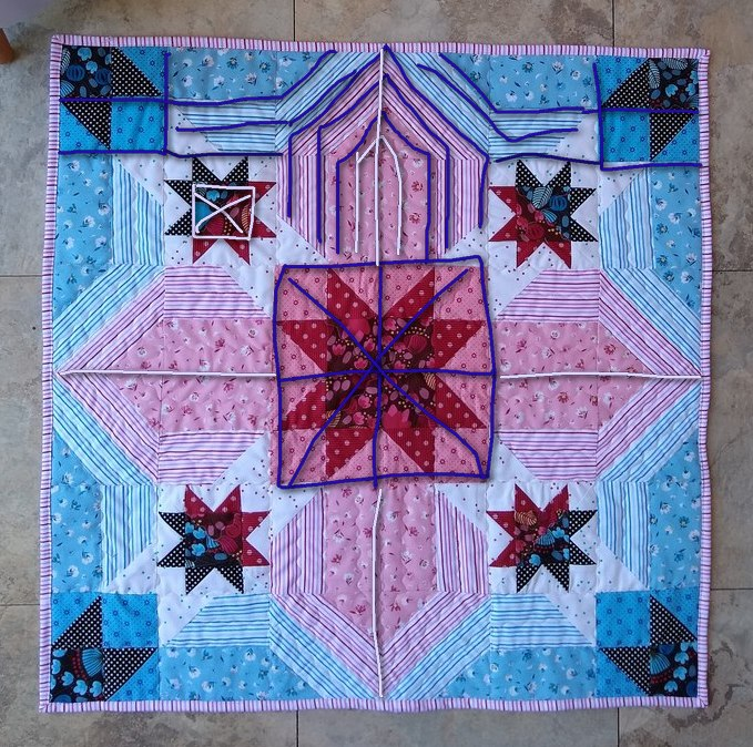 Pat sloan star quilting lines