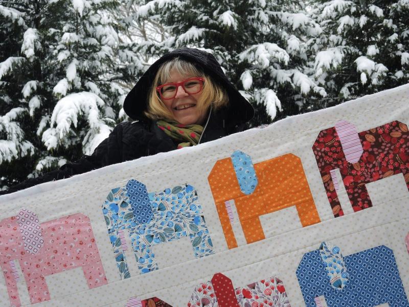 Pat sloan morrison park elephants in the snow 2