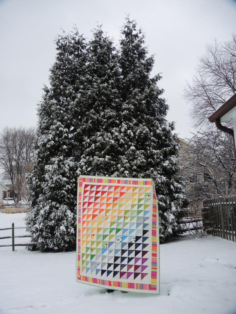 Pat sloan rainbow in the snow