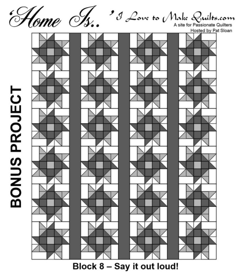 Pat Sloan Home Is Block 8 bonus layout