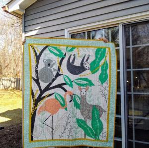 Baby quilt for mackenzie cova