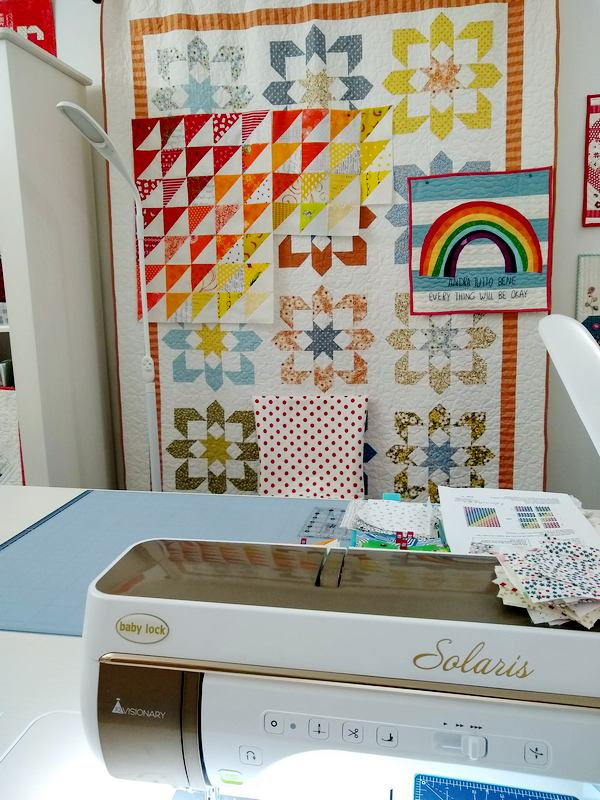 Pat Sloan Rainbow auxillary design wall