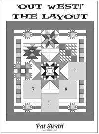 Pat Sloan Out West layout pattern button
