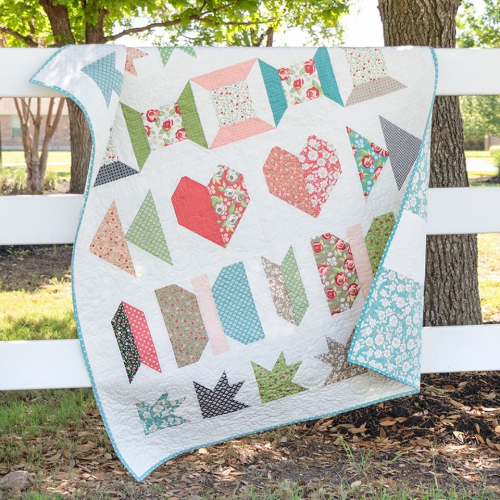 Jolly bar quilt FQS