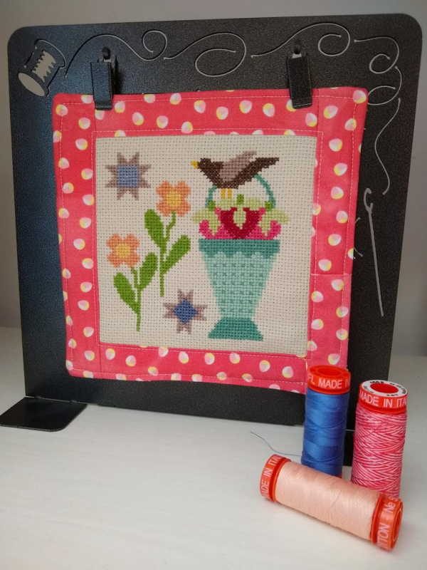 Pat sloan prim cross stitch block 2b