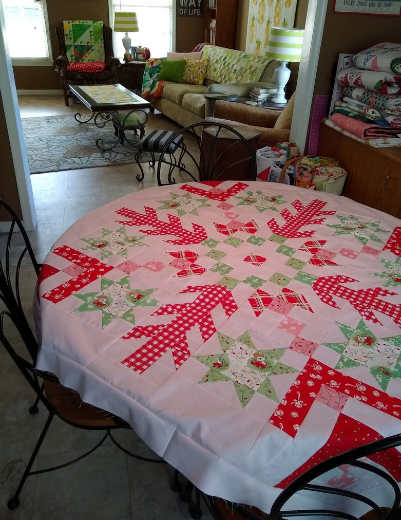 Pat sloan jelly snowflake on table