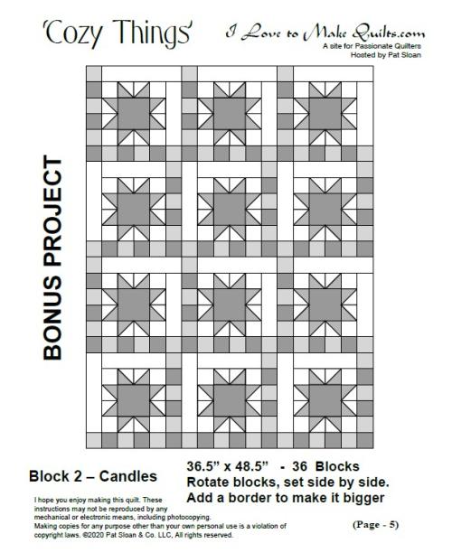 Pat sloan cozy things block 2  bonus layout