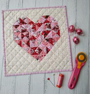 Pat sloan 12 inch heart quilt