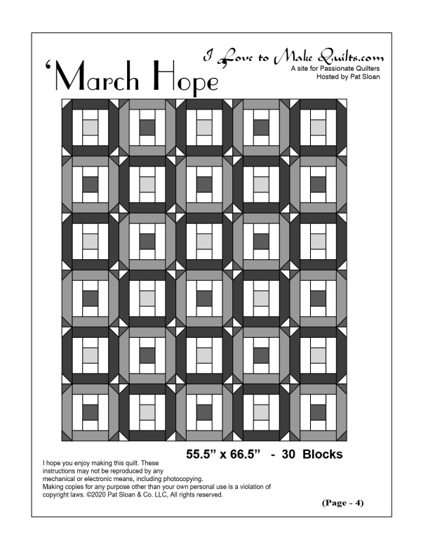 March Block a Day layout