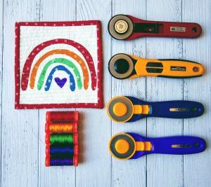 Pat sloan rainbow coaster