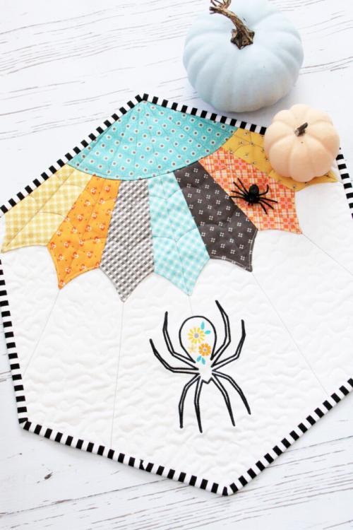 Bev Embroidered-Spider-Mini-Quilt-683x1024