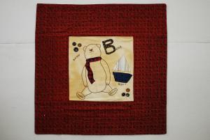 2000 bear single pattern embroidery