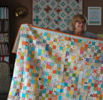 Pat sloan multi 2 inch square quilt pic 2 square