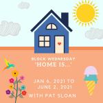 Blue House Housewarming Invitation