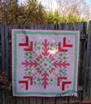 Pat sloan jelly snowflake deer christmas