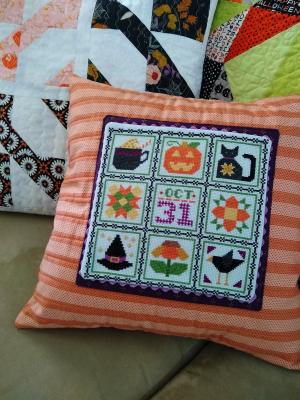 Pat sloan halloween pillow 1