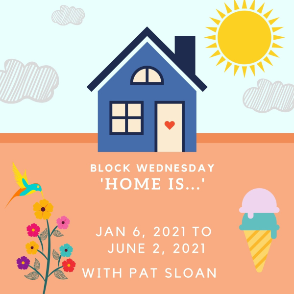 Blue House Housewarming Invitation