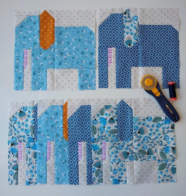 Pat sloan blue elephants