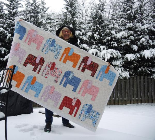 Pat sloan morrison park elephants in the snow 1