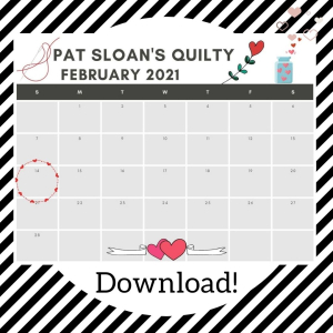 Pat sloan feb 2021 Black and White Stripes