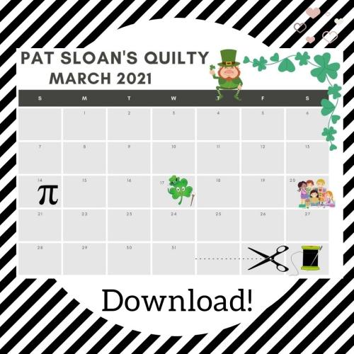 Pat sloan mar 2021 calendar frame