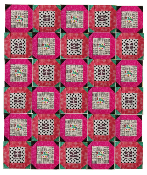 March Block a Day pink and teal
